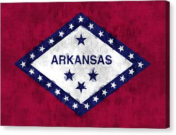 Arkansas Flag Canvas Print by World Art Prints And Designs