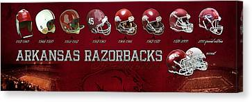 Arkansas Razorbacks Football Panorama Canvas Print by Retro Images Archive