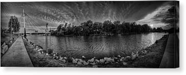 Arkansas River Panorama Canvas Print