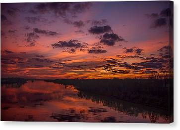 Arkansas River Rise Canvas Print by Ken Beatty
