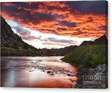 Arkansas River Sunrise Canvas Print by Idaho Scenic Images Linda Lantzy