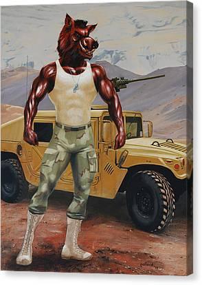 Arkansas Soldier Canvas Print