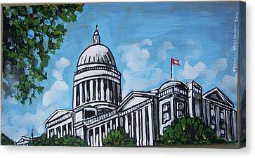 Arkansas State Capitol Canvas Print by Mitchell McClenney