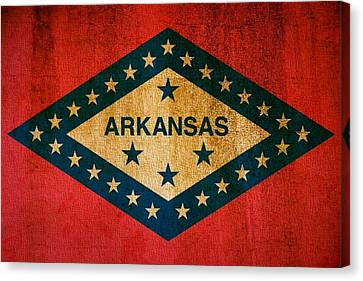 Arkansas State Flag Canvas Print by Dan Sproul