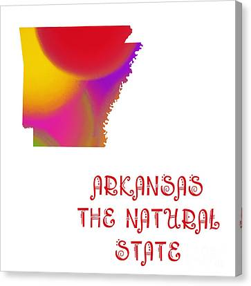 Arkansas State Map Collection 2 Canvas Print by Andee Design