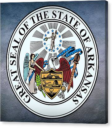 Arkansas State Seal Canvas Print by Movie Poster Prints