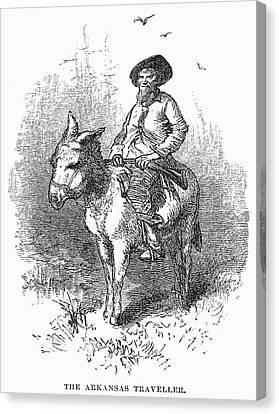 Arkansas Traveler, 1878 Canvas Print by Granger