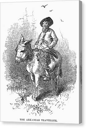 Arkansas Traveler, 1878 Canvas Print