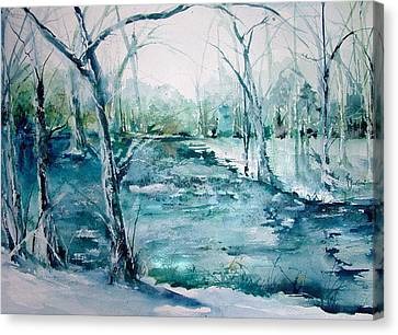 Arkansas Winter Canvas Print by Robin Miller-Bookhout
