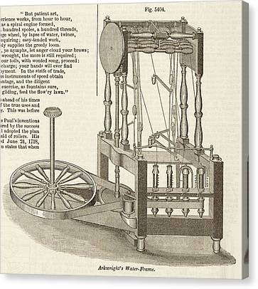 Spin Canvas Print - Arkwright's Water Frame by Art And Picture Collection/new York Public Library