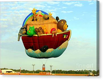 Arky Hot Air Balloon Canvas Print by Kathy  White