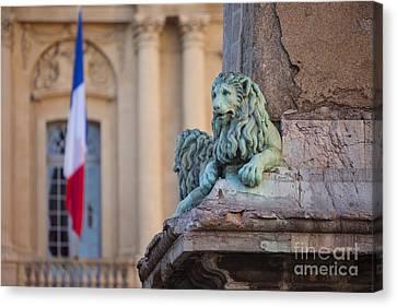 Arles Place De La Republique Canvas Print by Brian Jannsen