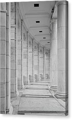 Arlington National Cemetery Canvas Print - Arlington Amphiteather Arches And Columns by Susan Candelario