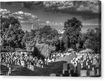 Canvas Print featuring the photograph Arlington Cemetery by Ross Henton