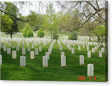 Arlington National Cemetary Canvas Print by L Brown