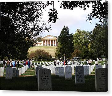 Arlington National Cemetery Canvas Print by Bill Cannon