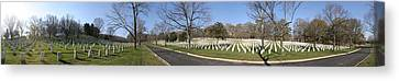 Arlington National Cemetery Panorama 2 Canvas Print by Metro DC Photography