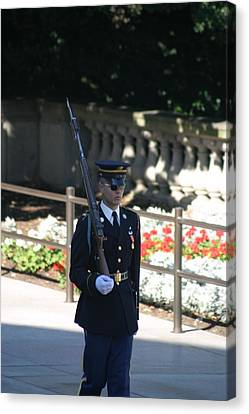 Arlington National Cemetery - Tomb Of The Unknown Soldier - 121215 Canvas Print by DC Photographer