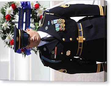 Soldiers Canvas Print - Arlington National Cemetery - Tomb Of The Unknown Soldier - 121218 by DC Photographer