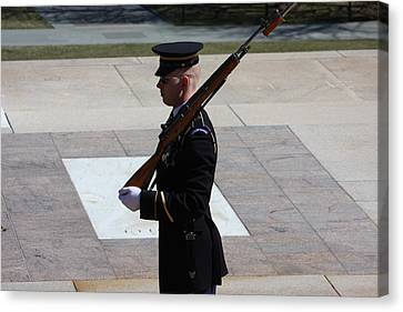 Tomb Canvas Print - Arlington National Cemetery - Tomb Of The Unknown Soldier - 121225 by DC Photographer