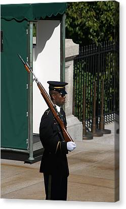 Arlington National Cemetery - Tomb Of The Unknown Soldier - 12123 Canvas Print by DC Photographer