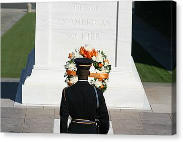 Arlington National Cemetery - Tomb Of The Unknown Soldier - 12128 Canvas Print by DC Photographer