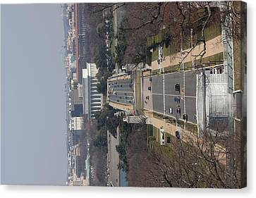 Arlington National Cemetery - View From Arlington House - 12121 Canvas Print by DC Photographer