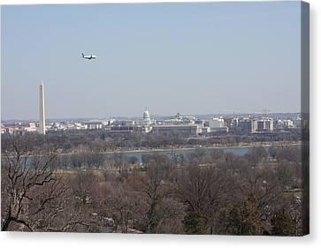 Arlington National Cemetery - View From Arlington House - 12122 Canvas Print by DC Photographer