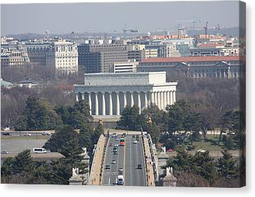 Arlington National Cemetery - View From Arlington House - 12123 Canvas Print by DC Photographer