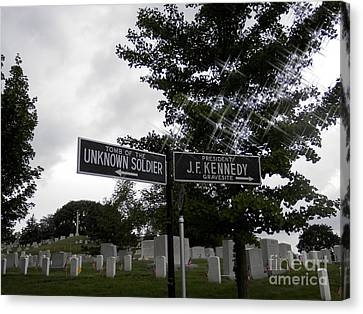 Canvas Print featuring the digital art Arlington's Unknown Soldier Guide by Angelia Hodges Clay