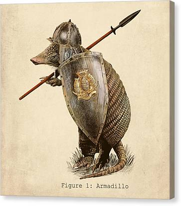 Armor Canvas Print - Armadillo by Eric Fan