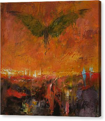 Surrealist Canvas Print - Armageddon by Michael Creese