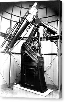 Armagh 10-inch Refractor Telescope Canvas Print by Royal Astronomical Society
