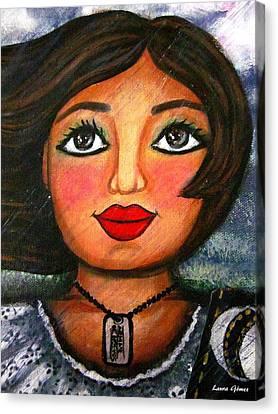 Armate De Huevos En Tiempos Tormentosos - Arm Yourself With Balls In Stormy Days Canvas Print by Laura  Gomez