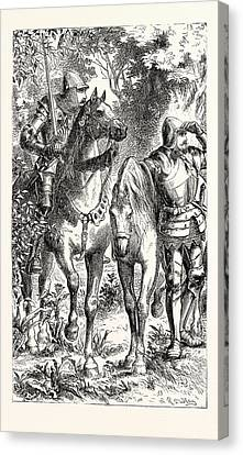 Armed Warriors Of The Fourteenth Century Canvas Print