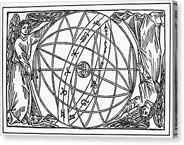 Cosmology Canvas Print - Armillary Sphere, 1509 by Granger