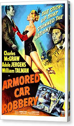Armored Car Robbery, Us Poster Canvas Print by Everett
