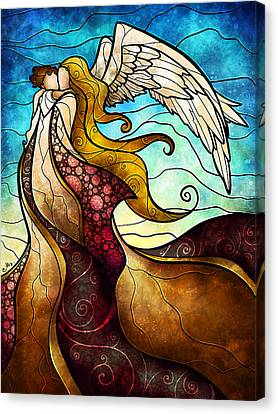 Arms Of The Angel Canvas Print by Mandie Manzano