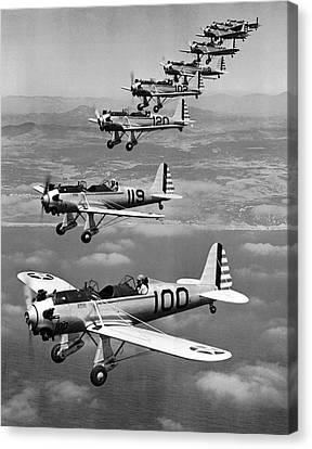 Army Air Corp Planes Canvas Print by Underwood Archives