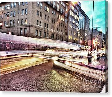 Army And Navy Rush Hour Canvas Print by Jim Moore