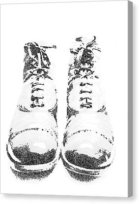 Seurat Canvas Print - Army Boots by Steve Taylor