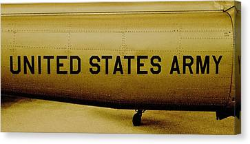 Army Chopper Canvas Print by Benjamin Yeager
