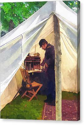 Army - Civil War Officer's Tent Canvas Print