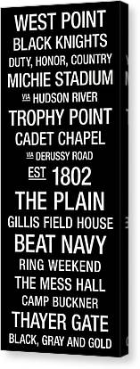 Mascots Canvas Print - Army College Town Wall Art by Replay Photos