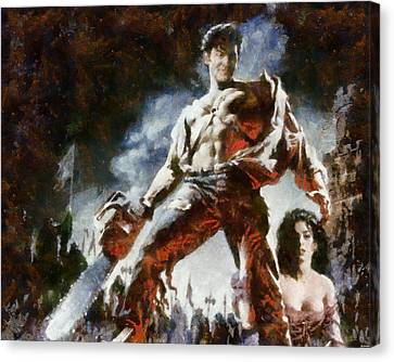 Canvas Print featuring the painting Army Of Darkness by Joe Misrasi
