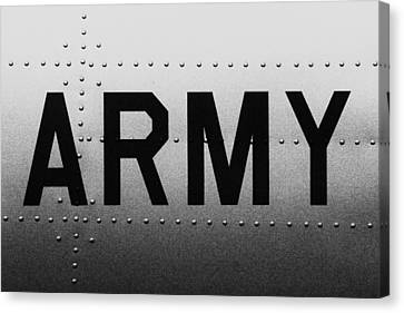 Army Strong Canvas Print by Benjamin Yeager