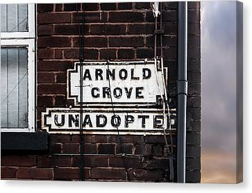 Arnold Grove Unadopted In Liverpool Canvas Print by Semmick Photo