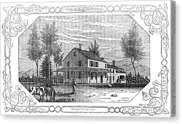 Arnold Headquarters, 1780 Canvas Print