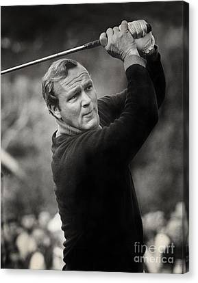Arnold Palmer Pro-am Golf Photo Pebble Beach Monterey Calif. Circa 1960 Canvas Print by California Views Mr Pat Hathaway Archives