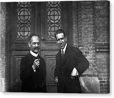 Quantum Theory Canvas Print - Arnold Sommerfeld And Niels Bohr by Emilio Segre Visual Archives/american Institute Of Physics